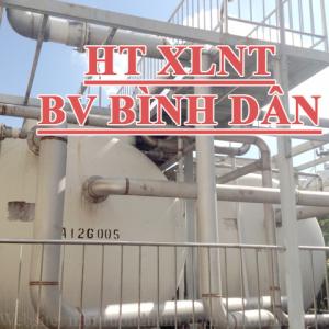 Trạm xử lý nước thải Bệnh viện Bình Dân - Công suất 700 m3/ngày.đêm