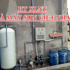 Trạm xử lý nước thải Công ty CP Sơn và Chống thấm Việt Nhật công suất 5 m3/ngày.đêm