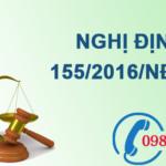 Nghị định về xử phạt vi phạm hành chính trong lĩnh vực bảo vệ môi trường số 155/2016/NĐ-CP