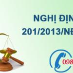 Nghị định về chi tiết thi hành một số điều của luật tài nguyên nước số 201/2013/NĐ-CP