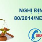Nghị định về thoát nước và xử lý nước thải số 80/2014/NĐ-CP