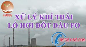 xử lý khí thải lò hơi đốt dầu FO