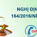 Nghị định về phí bảo vệ môi trường đối với khai thác khoáng sản số 164/2016/NĐ-CP