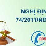 Nghị định về bảo vệ môi trường đối với khai thác khoáng sản số 74/2011/NĐ-CP