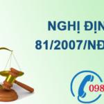 Nghị định về bảo vệ môi trường cơ quan và doanh nghiệp nhà nước số 81/2007/NĐ-CP