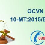 Quy chuẩn Việt nam về Chất lượng nước biển số QCVN 10-MT:2015/BTNMT