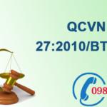 Quy chuẩn Việt nam về Độ rung số QCVN 27:2010/BTNMT
