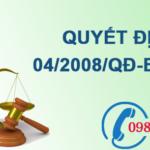 Quyết định về quy chuẩn kỹ thuật quốc gia về môi trường số 04/2008/QĐ-BTNMT