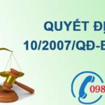 Quyết định về hoạt động quan trắc môi trường không khí xung quanh và nước mặt lục địa số 10/2007/QĐ-BTNMT