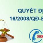 Quyết định ban hành quy chuẩn kỹ thuật quốc gia về môi trường số 16/2008/QĐ-BTNMT