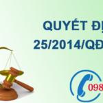 Quyết định quy định chức năng, nhiệm vụ, quyền hạn và cơ cấu tổ chức của tổng cục môi trường số 25/2014/QĐ-TTg