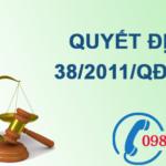 Quyết định về sửa đổi, bổ sung việc hỗ trợ có mục tiêu kinh phí từ ngân sách nhà nước số 38/2011/QĐ-TTg