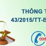 Thông tưvề báo cáo hiện trạng môi trường số 43/2015/TT-BTNMT