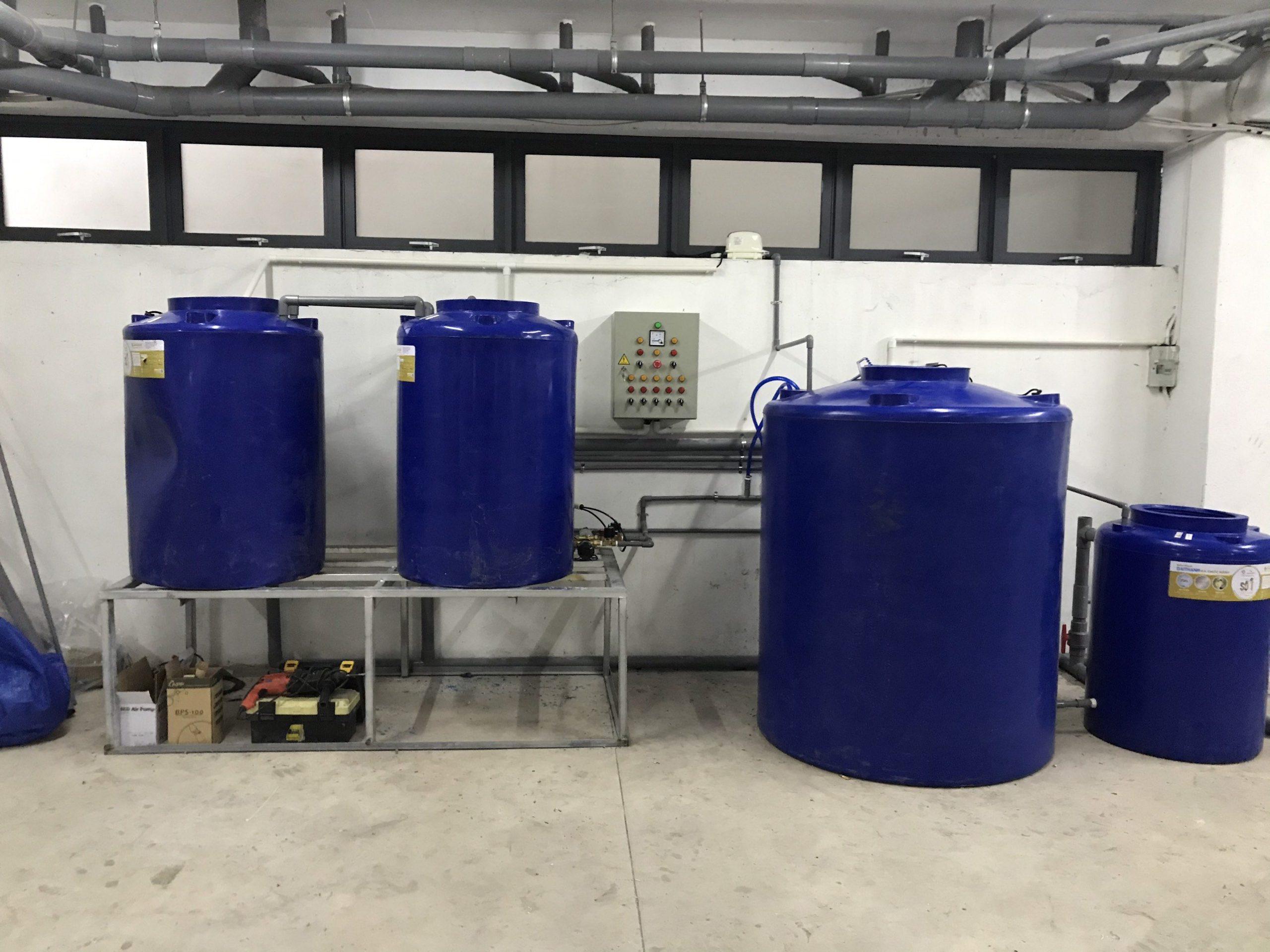 máy xử lý nước thải nha khoa dạng bồn nhựa