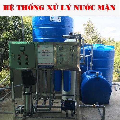 hệ thống xử lý nước mặn