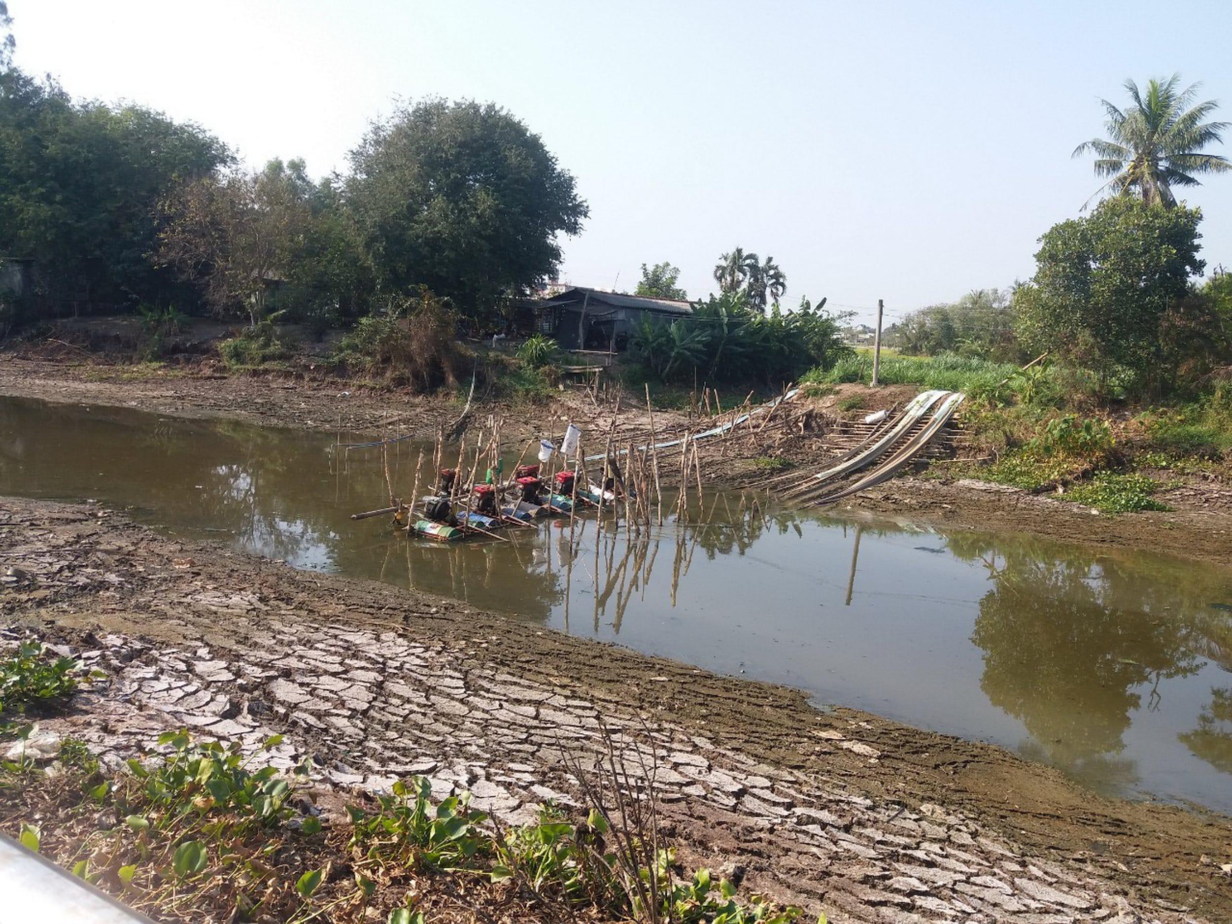 kênh rạch bị nhiễm mặn