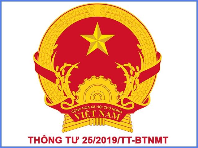 thông tư 25/2019/TT-BTNMT