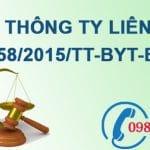 Thông tư liên tịch quy định về quản lý chất thải y tế số 58/2015/TTLT-BYT-BTNMT
